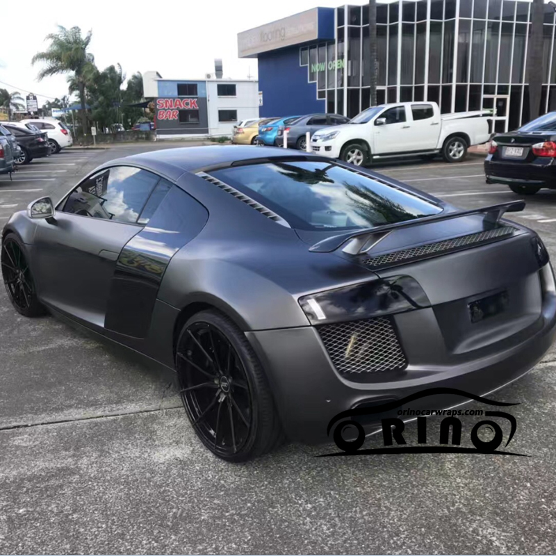 Matte Grey Car >> Us 140 06 6 Off Orino Premium Gunmetal Metallic Matte Dark Grey Vinyl Wrap With Air Release Anthracite Car Wrap Film Size 1 52x20m 5x65ft In Car