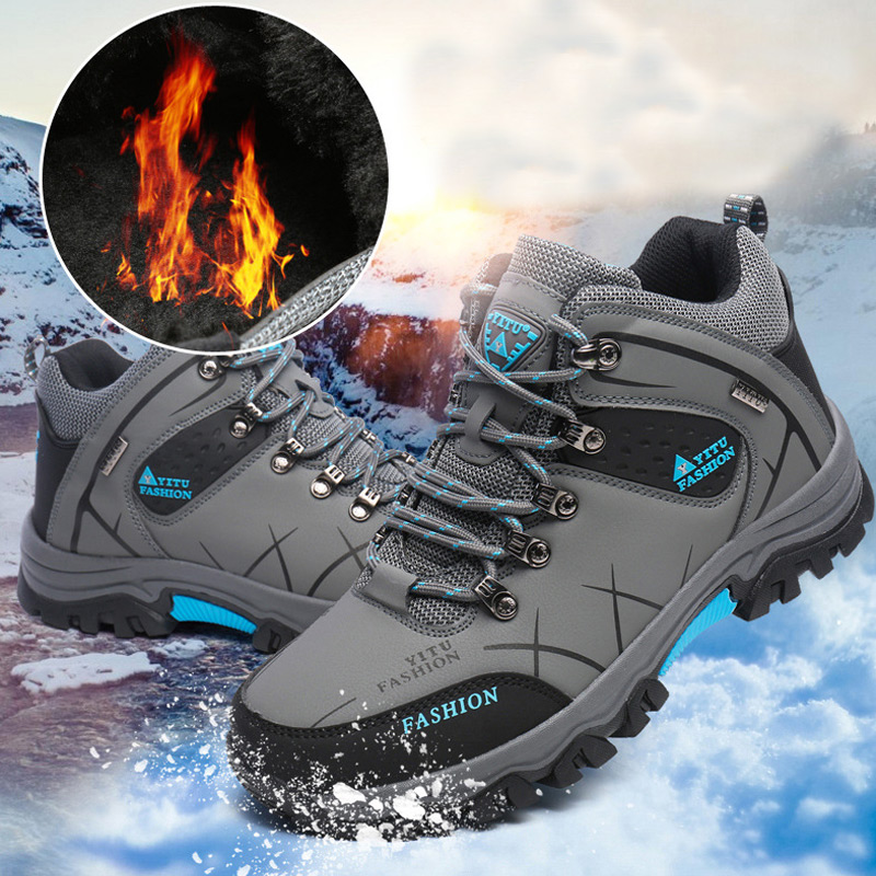 Sneakers Men 2019 Fashion Winter Shoes Men Running Shoes Plus Size Comfortable Plush Warm Men Sports Shoes Outdoor Walking Shoes