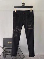 Модные Для мужчин джинсы 2019 взлетно посадочной полосы роскошь известный бренд Европейский дизайн вечерние стиль Мужская одежда WD02496