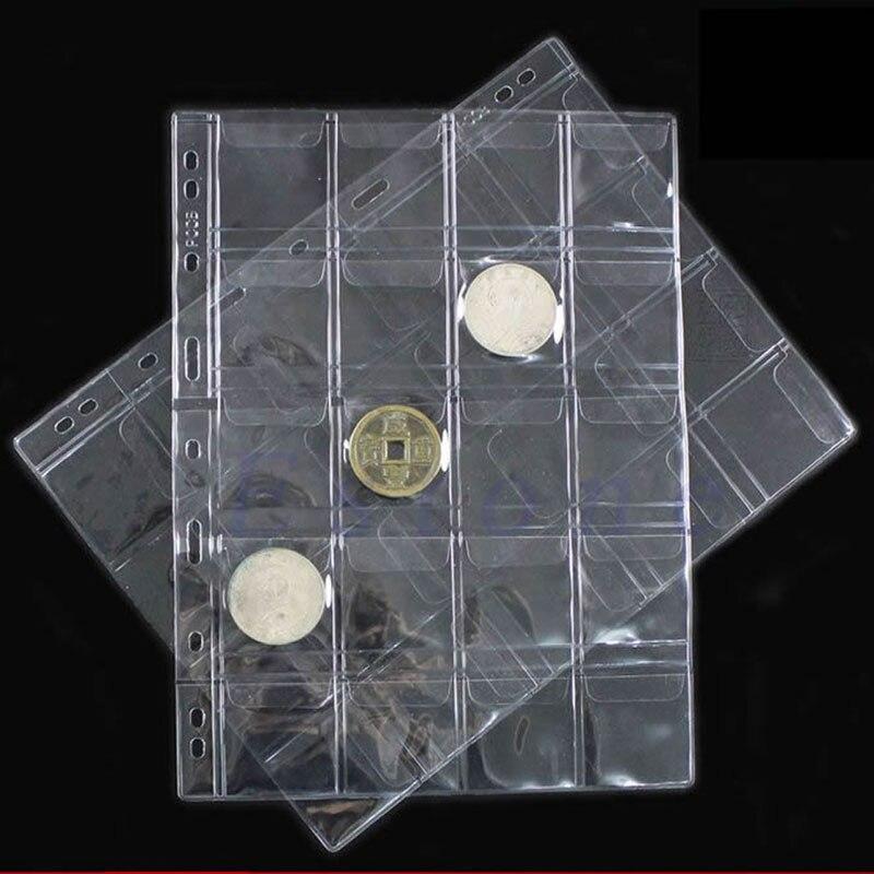 8 x 11 pulgadas, 15 hojas 20 p/áginas de pl/ástico para monedas