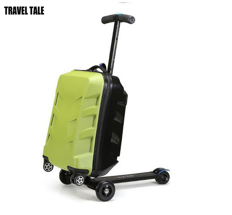 travel tale scooter trolley scooter suitcase skate board. Black Bedroom Furniture Sets. Home Design Ideas