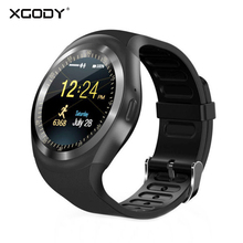 XGODY Y1 Smart Watch Bluetooth Fitness Tracker WristWatch Sport Call Reminder Digital Wearable Devices For For iOS Android Men