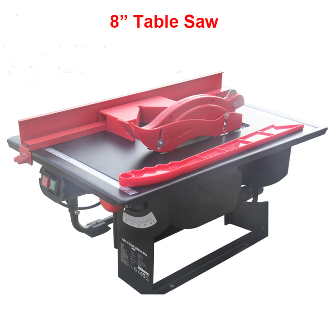 Home Use Multi Functional 8 Inch Wood Working Table Saw Chamfering Machine Cutter