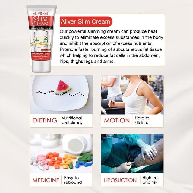 60ml Slimming Cellulite Removal Cream Fat Burner Weight Loss Slimming Creams Leg Body Waist Effective Anti Cellulite Fat Burni 5