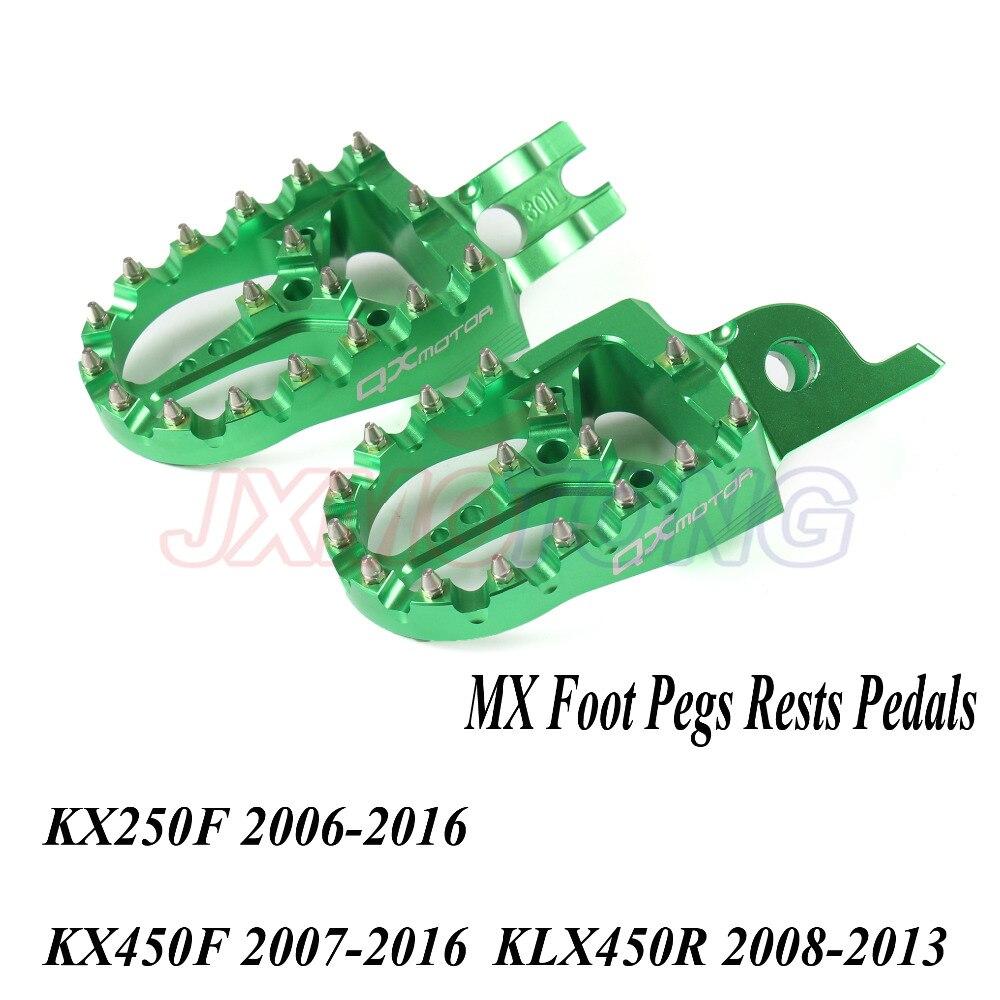 Billet MX Foot Pegs Rests Pedals For KX KLX KXF KX250F 2006-2016 KX450F 2007-2016 KLX450R 2008-2013 Enduro Motocross Supermoto ключ jtc 4414