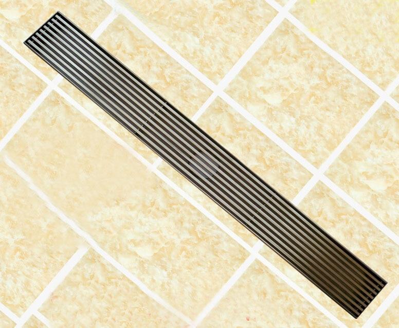 304 stainless steel 60cm linear anti odor floor drain bathroom hardware 600mm invisible shower floor drain