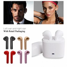 Hot Sell Wireless Bluetooth Earbuds i7TWS Earphones Twins Earpieces Stereo Headset Sport for pods Android xiaomi huawei LG(China)