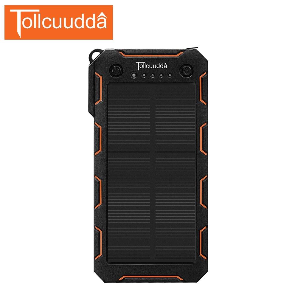 imágenes para Banco de la energía 12000 mah solar power bank cargador portátil para iphone xiaomi mi 2 batterie externe powerbank teléfono móvil