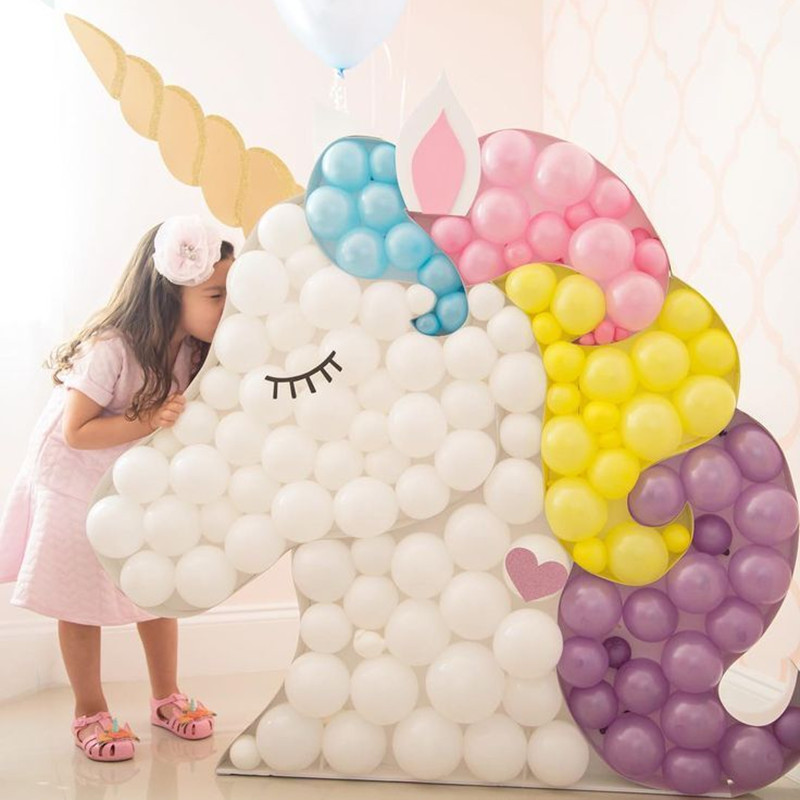 KAMMIZAD 1st birthday balloon 50pcs 5inch clear latex balloons arch black gold for unicorn party babyshower decoration ballon in Ballons Accessories from Home Garden