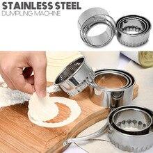 Пресс-форма для теста из нержавеющей стали для приготовления пельменей, Пирогов, пельменей, пресс-форма для дома, кухни, круговая роликовая машина для теста# CL30
