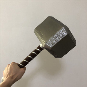 1:1 Thor's Hammer 44cm Cosplay Thor Thunder Hammer Weapons Model Figure Kids Gift Movie Role Playing Safety PU Material Toy