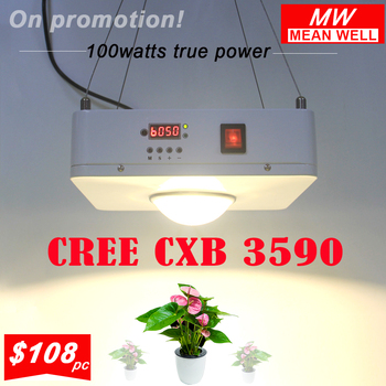 CREE CXB3590 100W COB Dimmable LED Grow Light Full Spectrum LED Lamp 26000LM = HPS 400W  Growing Lamp Indoor Plant Grow Lights 450w cree cxb3590 cob full spectrum led grow light waterproof quicker heat dissipation energy efficient widely used in all stage
