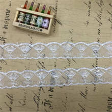DoreenBeads Embroidered Organza Lace Trim Garment Underwear Skirt Sleeve Bracelet Headdress Curtains Decorations About 0.9m 1PC(China)