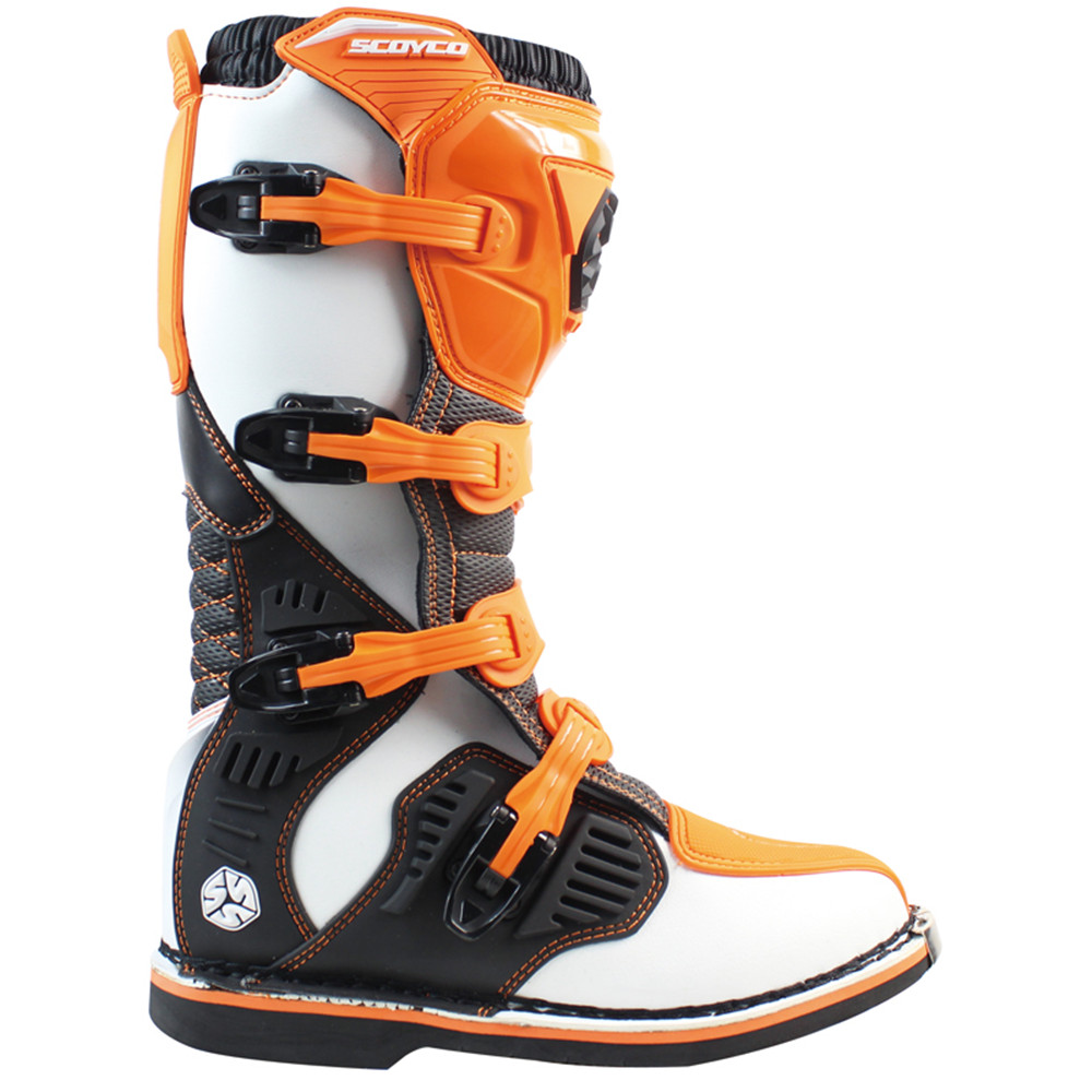 Professional Leather Motorcycle Boots Botas Moto Motocross Botte Stivali Motociclista Motosiklet MBM001A Men Women Racing Shoes