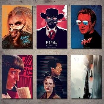 Various Movie Posters Decorative Paintings Retro Wall Stickers Posters Kraft Paper Posters Retro Posters top posters холст золотой мустанг top posters 50х75х2см b 714h