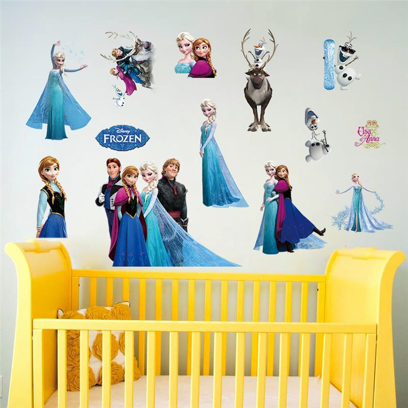 Elsa anna olaf hans wall stickers kids room for Anna decoration in home