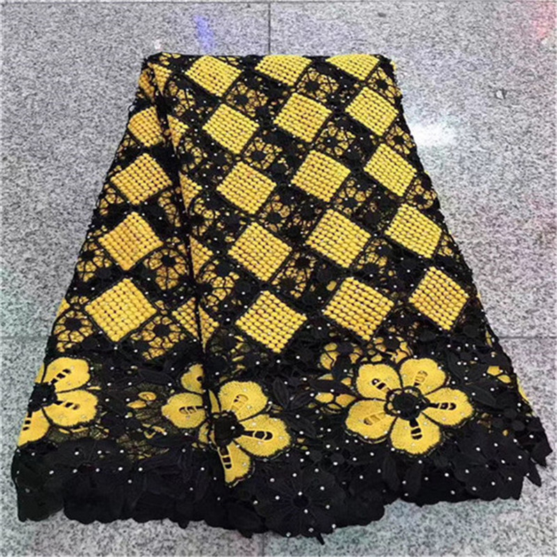 2019 New Design French Africa Lace Fabric High Quality African Embroidered Tulle Lace Fabric For Appliqued