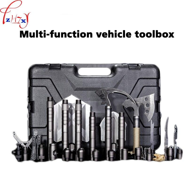 ארגז כלים רכב פונקציה רבת 18 מיני כלים חליפת מעדר ארגז כלים חיצוני הישרדות שמו מהנדס רכב פונקציה רבת 1 pc