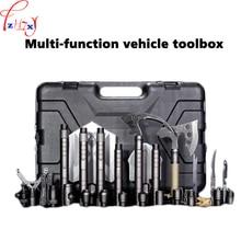 Multi-function vehicle toolbox 18 kinds of tools spade suit outdoor survival engineer spade multi-function vehicle toolbox 1pc