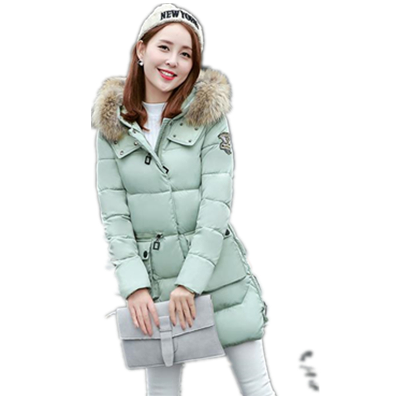 ФОТО TOP Quality Large Real Fur 2017 Winter Jacket Women Raccoon Fur Collar Hooded Thick Warm Coat For Women Winter Parka CM240
