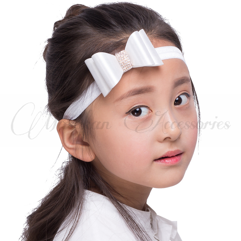 Retail!!! 8colors Rhinestone Bow Headband Baby Headband Luxe Headband Baby Bow Headband Children Hair Accessories