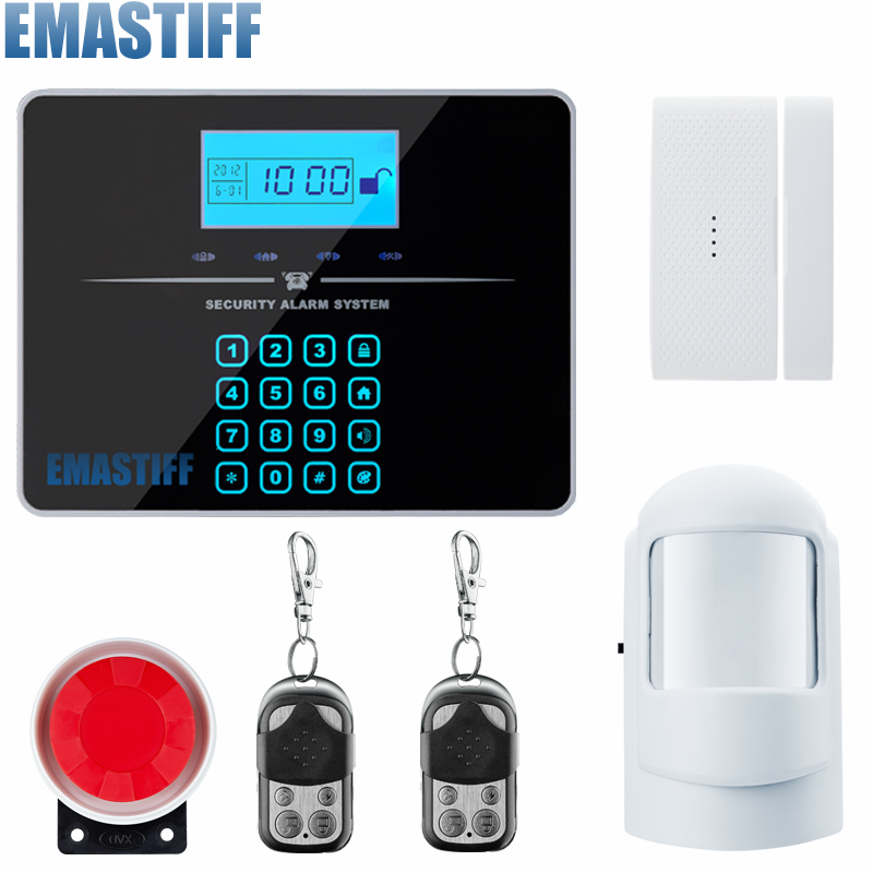 Free Shipping Touch LCD Keypad Wireless PSTN GSM Alarm System 433MHz Home Burglar Security Alarm System with PIR Motion Sensor hoff комплект постельного белья