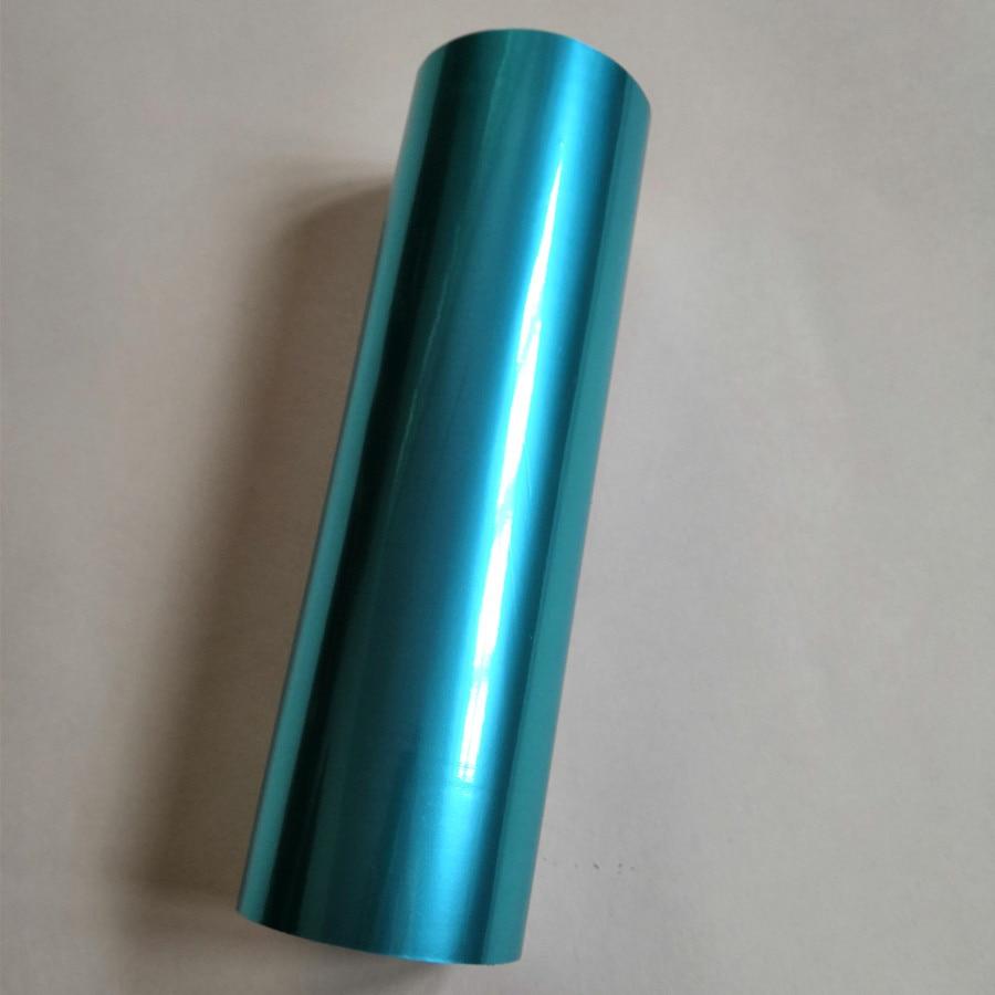 Metallic foil matt lake blue color 812 1 Hot stamping foil hot press on paper or