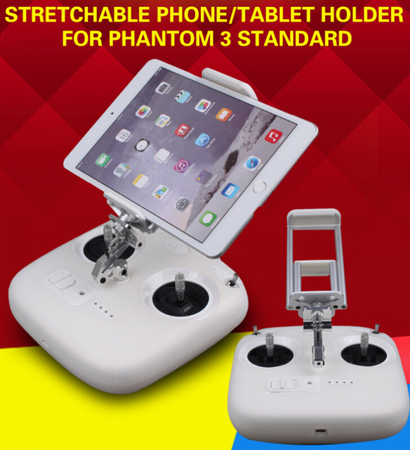 Remote Controller Stretchable Smartphone Tablet Holder Extender Mount Bracket Mobile Clamp for DJI Phantom 3 Standard slim case for ipad mini 4 aluminum wireless bluetooth keyboard 7 colors backlit protective smart cover for ipad mini4 flip stand