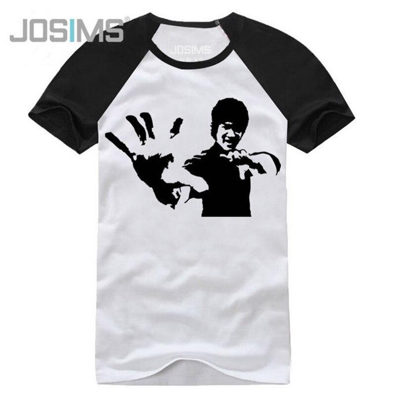 남성 T- 셔츠 패션 2019 여름 Bruce Lee 인쇄 된 t- 셔츠 남성면 100 % 캐주얼 반팔 M- 셔츠 큰 크기 A1363