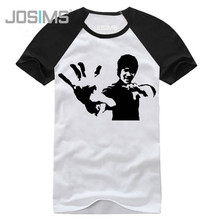 Mens T-shirt Fashion 2019 Summer Bruce Lee Printed T-Shirt Men Cotton 100% Casual Short-Sleeved Mens T-shirts Big Sizes A1363