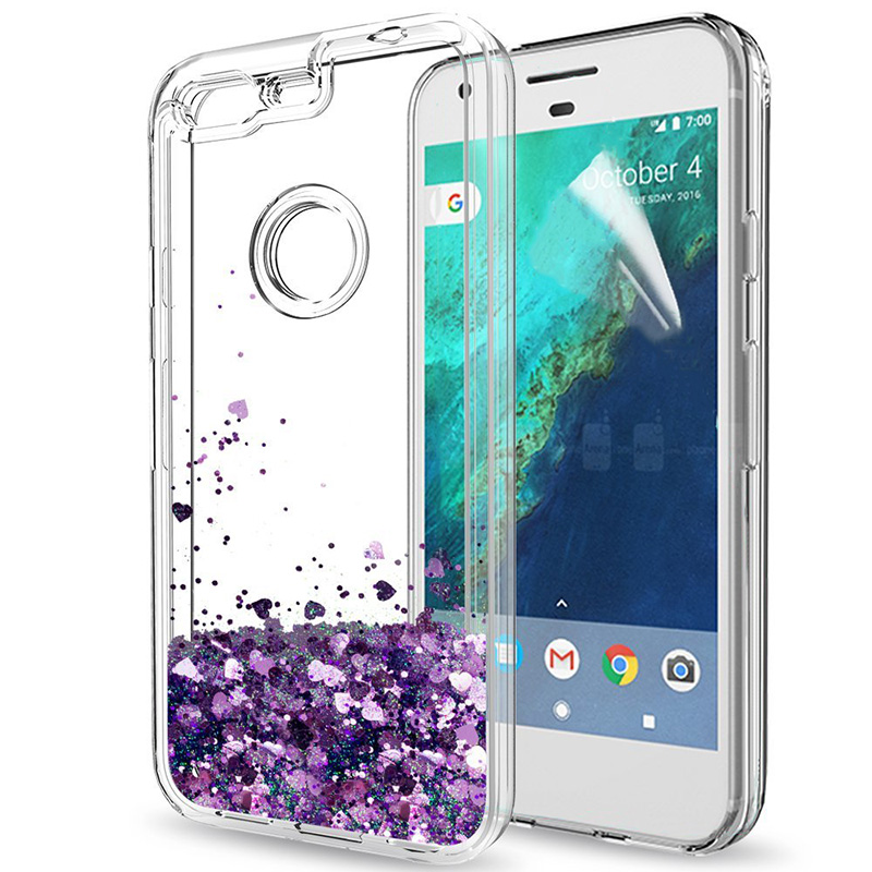 For Google Pixel / Google Pixel XL Case Girls Women Liquid Quicksand Bling Cute Clear Soft TPU Silicone Cases Back Cover