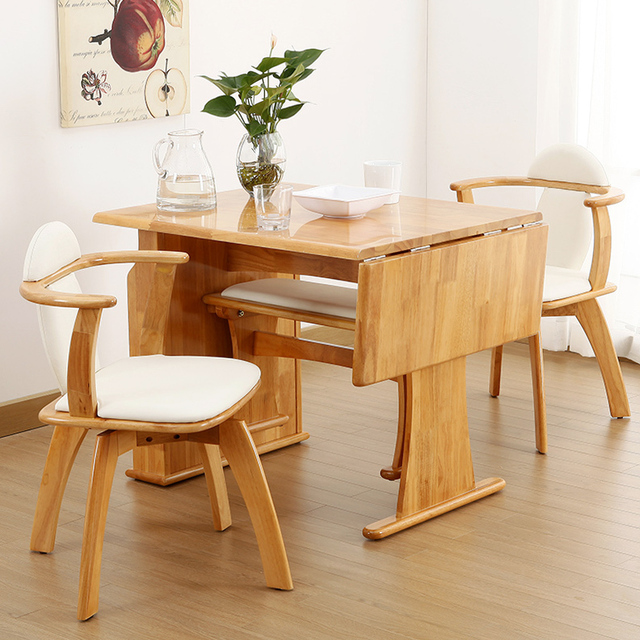 DTRubber wood tables and chairs meal eat desk and chair