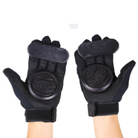 Pair Skateboard Freeride Grip Slide Protective Gloves Longboard With Foam Palm