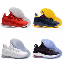 90aeab19e82 2018 New Arrival lebron Basketball Shoes for Men shoes lebron 15 Black  White Red 15s EP