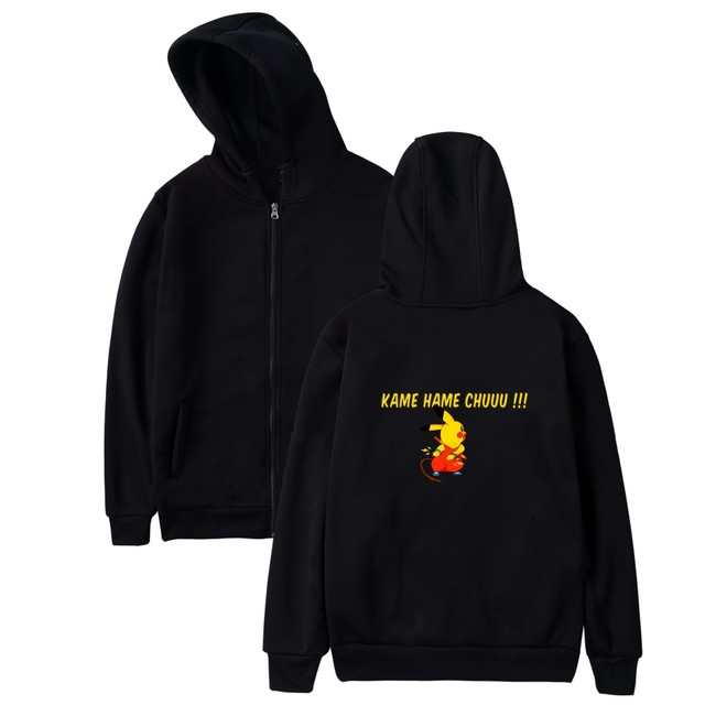 cdd2fa8c7fb LUCKYFRIDAYF Pokemon GO Pikachu Women Men Zipper Hoodies Sweatshirt Fashion  Cool Anime Hip hop Zipper
