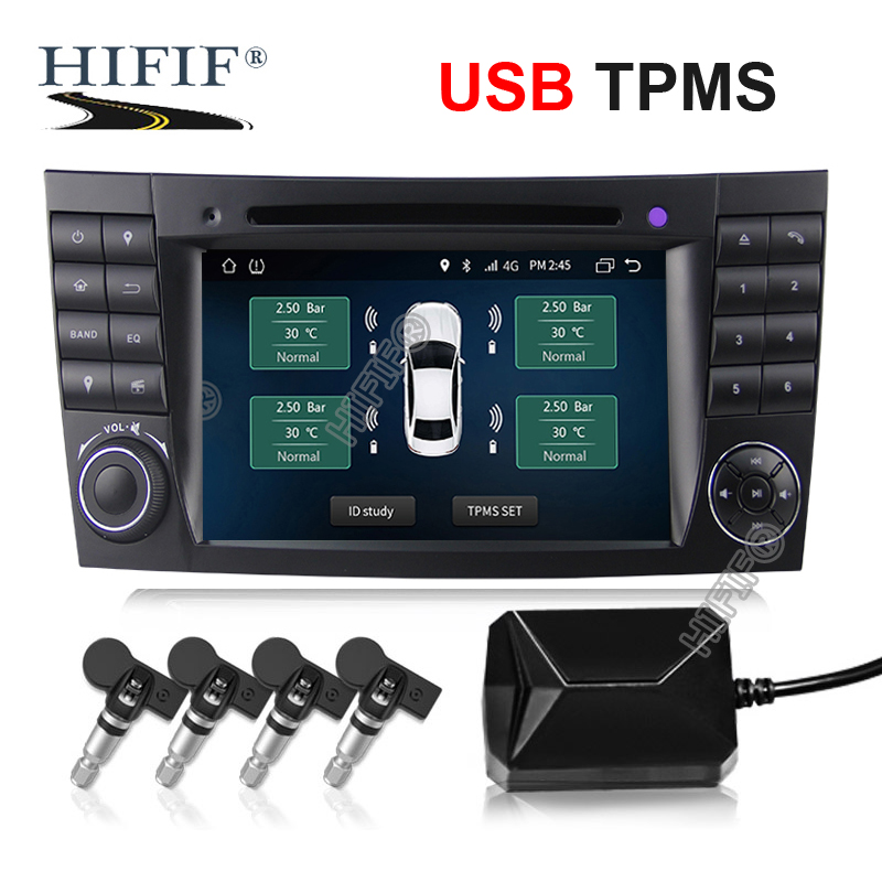 USB Android TPMS tire pressure monitor Android navigation tire pressure monitoring alarm system wireless transmission TPMS