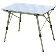 Складной стол с полкой и регулировкой по высоте стол для пикника алюминий стол складной туристический стол туристический походный стол отдых на природе