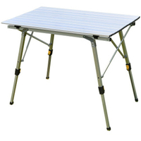 Odkryty składany stół krzesło Camping stół piknikowy ze stopu Aluminium wodoodporny trwały składany stół biurko na 90*53cm w Zewnętrzne stoły od Meble na