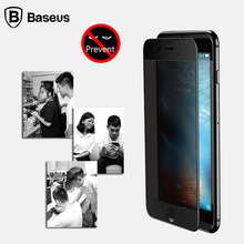 For iPhone 7 / 7 Plus Screen Protector BASEUS 3D Privacy Tempered Glass Anti-Spy Soft PET Glass Film For iPhone 6 6S / Plus