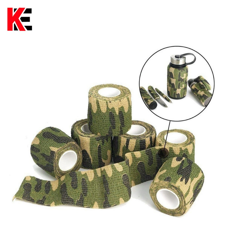 5 Piece/lot Self Adhesive Camouflage Elastic Tape Camo Wrap Non-woven Fabric Outdoor Military Survival Bandage Emergency Kit Sos Delicacies Loved By All Safety & Survival