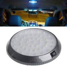 цена на Yfashion DC 12V Car Vehicle White 46 LED Dome Roof Ceiling Interior Light Lamp