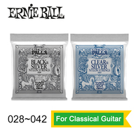 Ernie Ball 2406 2403 Ernesto Palla Nylon Clear And Silver Classical Guitar Strings 028 042