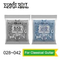 Ernie Ball 2406 2403 Ernesto Palla Nylon Clear And Silver Classical Guitar Strings 028 042