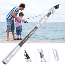 Carbon Spinning Fishing rod lure 1.8~3m telescopic Lure Rod Spinning Telescopic Fishing Rods& Fishing Reel Combos free shipping