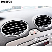 TOMEFON For Ford Focus 2009 2010 2011 ABS Carbon Fiber Paint Inner Side Middle Air AC Vent Outlet Cover Trim 4pcs