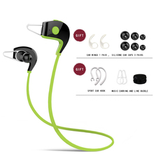 цена на 2019 Bluetooth Wireless Headset Sport Running Waterproof In-Ear Stereo Earphone In Ear Bass Headphone Green Red Blue Gold Silver