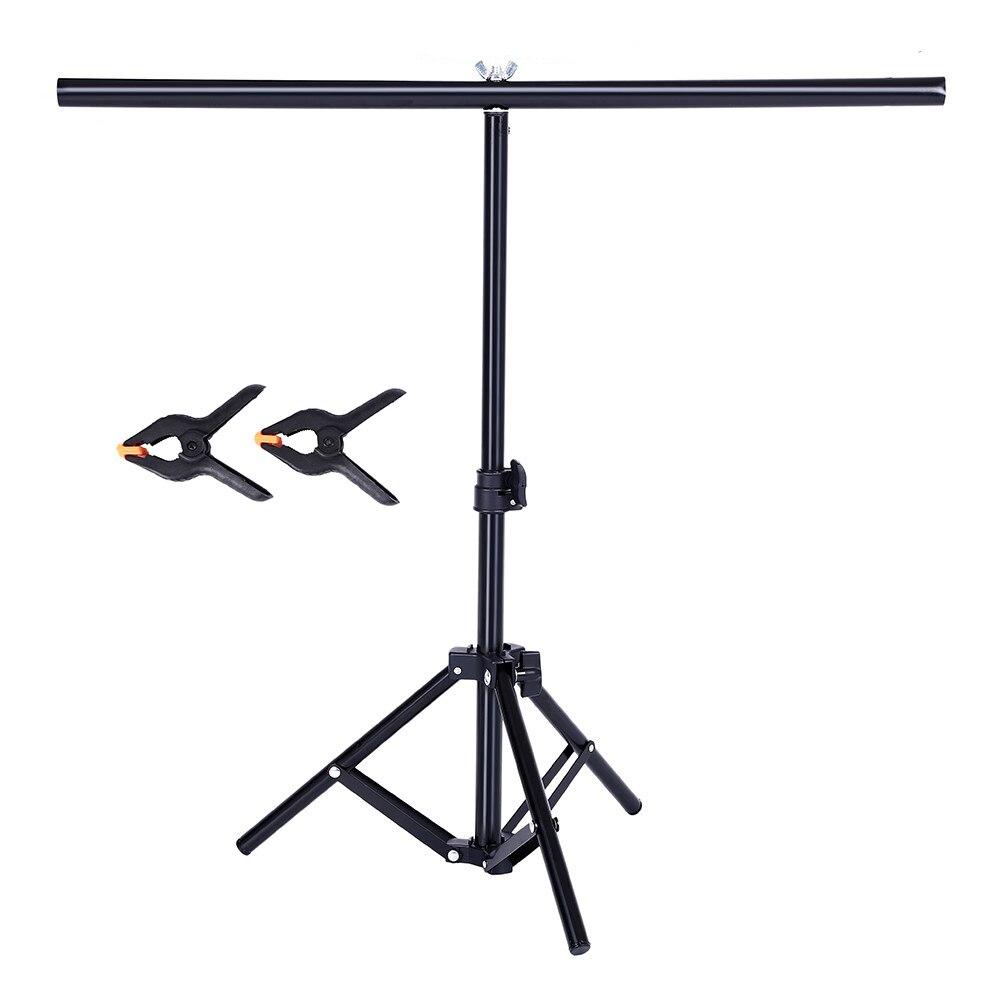 Fotografie PVC Hintergrund Unterstützung Hintergrund Stehen System Metall Hintergründe für Foto Studio Video mit 2 Schellen Clip 68 cm X 75 cm