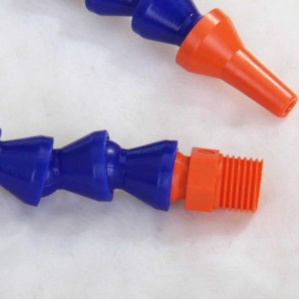 1 stuk 300mm Plastic Flexibele Verstelbare Water Olie Koelvloeistof Pipe Slang Ronde Nozzle 1/4 Bougie Tube Condensor Universele draaibank