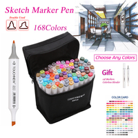 TOUCHNEW 30 40 60 80 Colors Artist Dual Headed Marker Set Product Design School Drawing Sketch