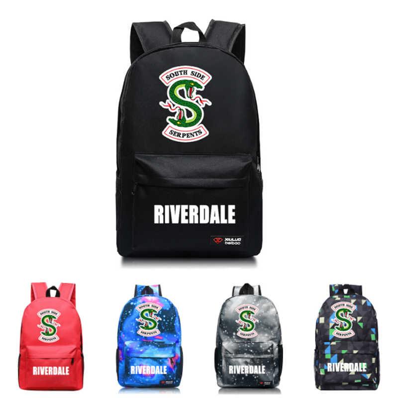 TV Riverdale Backpack Teenagers School Bags Kids Boy Travel Bag Kids Laptop  Book Bags Solid Styles 08d2cbb25cad7